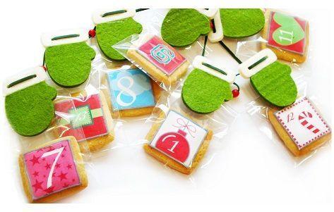 Calendario de Adviento de Cukis, hecho con galletas decoradas