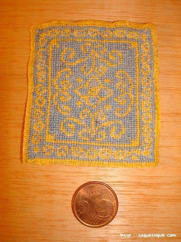 alfombra bedside rug, casas de muñecas, alfombras, miniaturas, patrones