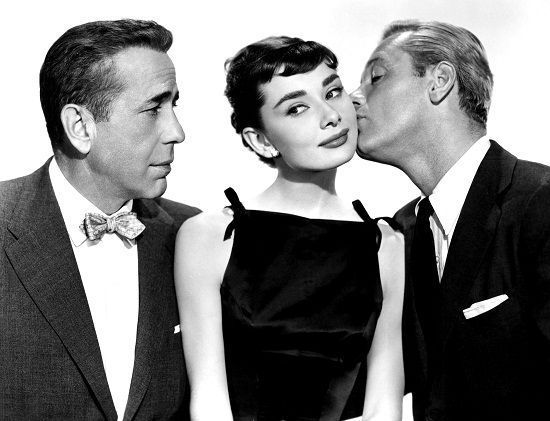 Sabrina: Humphprey Bogart Audrey Hepburn y William Holden