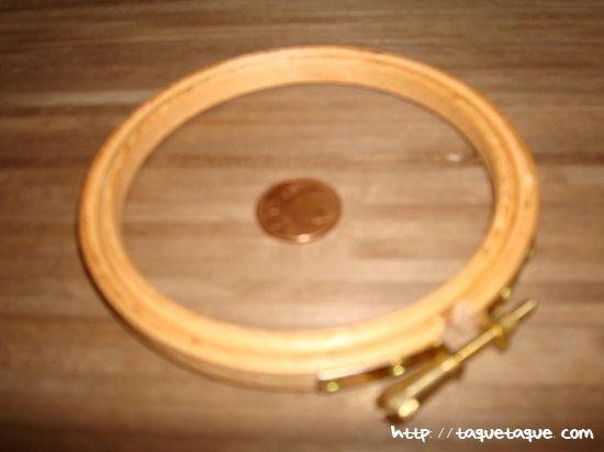 bastidor pequeo cm de diametro para bordar alfombras para casas de muecas