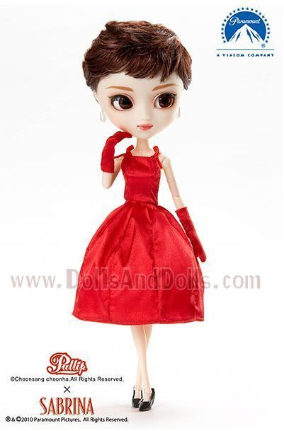 pullip sabrina vestido rojo tiras tirantes sisas guantes