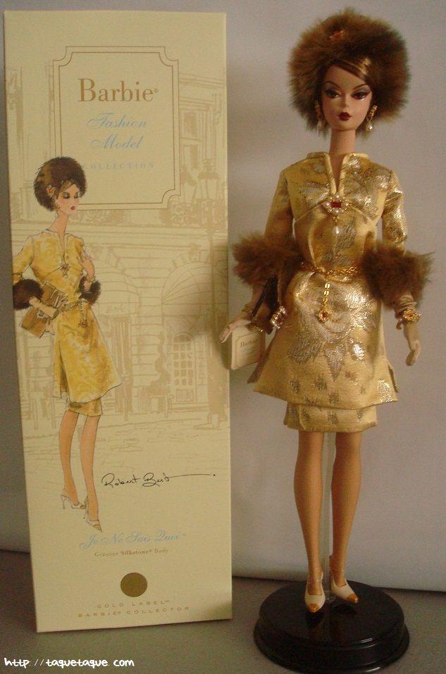 Barbie Silkstone Je ne sais quoi: foto de la muñeca y su caja