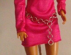 Barbie OOAK DIY designs by Taqué-Taqué (I): vestido fucsia + complementos