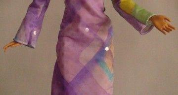 Barbie OOAK DIY designs by Taqué-Taqué (III): vestido setentero + pendientes