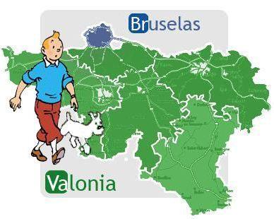 Bruselas Valonia: Tintín, uno de los personajes de cómic belgas más famosos