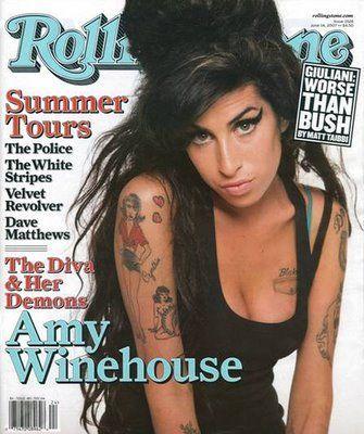 "Amy Winehouse en la portada de la revista ""Rolling Stone"""