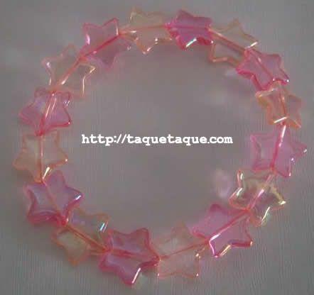 pulsera de abalorios con forma de estrella en dos colores