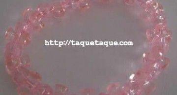 """Set de abalorios de Hello Kitty (IV): pulseras con abalorios de color rosa """"yogur de fresa"""""""