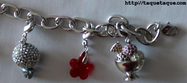 Charm con forma de flor, de cristal tallado de Swarovski