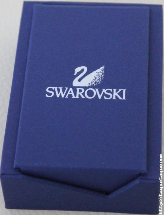 caja de Swarovski en la que venía el charm con forma de seta (amanita muscaria)