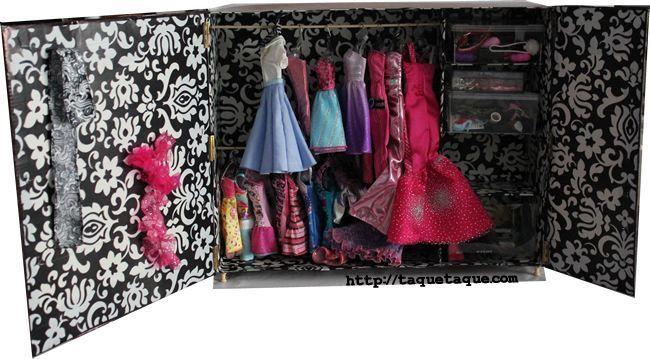 armario DIY OOAK para mis Barbies Fashionistas by Taqué-Taqué
