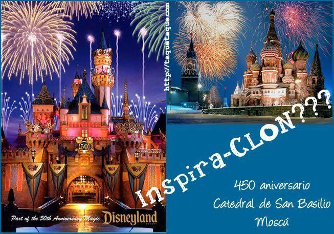 La Catedral de San Basilio (Plaza Roja, Moscú) y el Castillo de Disneyland se parecen mucho