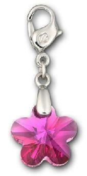 Charm de Swarovski con forma de flor en cristal tallado