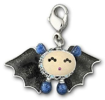 Charm kawaii con forma de murciélago de Swarovski