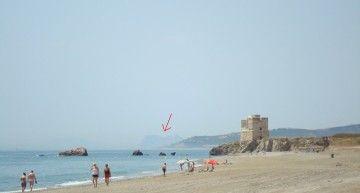 """Primer aniversario de """"nuestra"""" estrella, con (el peñón de) Gibraltar, al fondo… Un rayo de sol, guo oo!!!"""