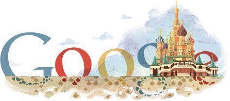 El doodle de Google de hoy conmemora el 450 aniversario de la Catedral de San Basilio, Plaza Roja (Moscú)