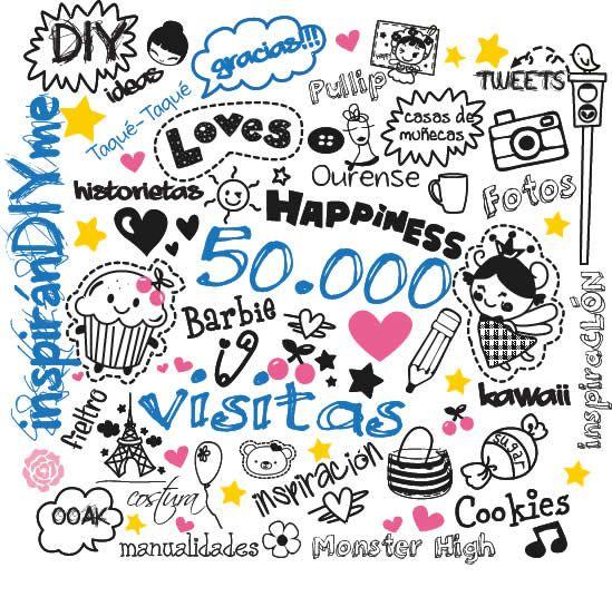 inspiránDIYme ha superado hoy las cincuenta mil visitas. ¡¡¡Muchísimas gracias!!!