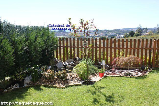 Estanque del jardín de la casa de mis cuñados en Santiago de Compostela