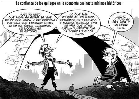 """Viñeta de Santy Gutiérrez publicada en """"La Opinión"""" de La Coruña el 22 de octubre de 2007"""