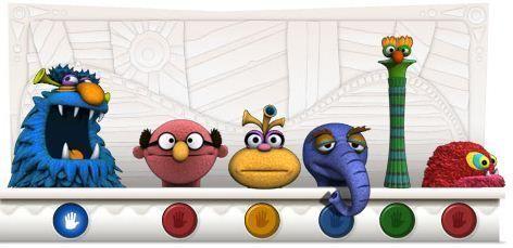 Doodle de Google para celebrar el 75 cumpleaños de Jim Henson (24 de septiembre de 2011)