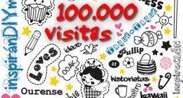 inspiranDIYme ya ha superado las cien mil visitas (+-=nº ourensan@s). ¡¡¡MUCHÍIIIIIISIMAS GRACIAS!!!