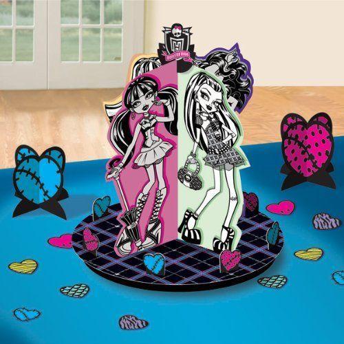 Monster High: centro de mesa para fiestas de cumpleaños