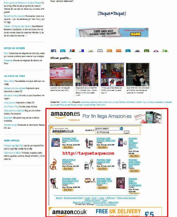 comprar en la tienda online de Taqué-Taqué en Amazon.co.uk (Reino Unido)