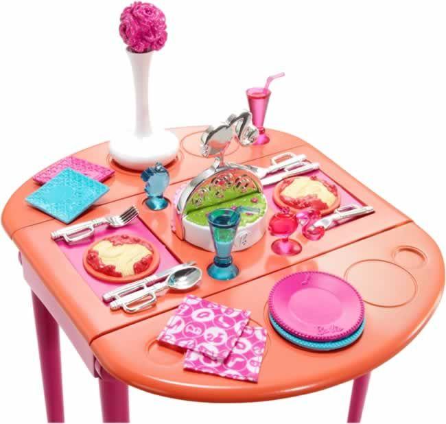 Barbie - muebles de comedor