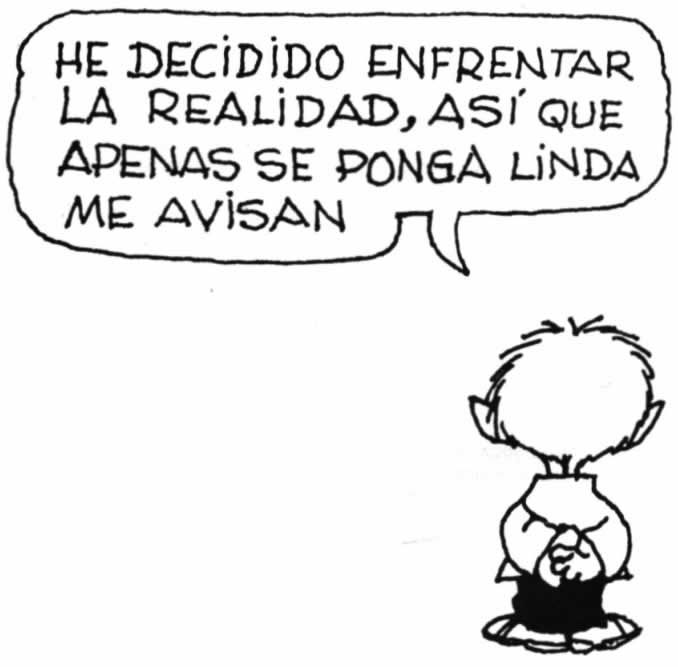 Mafalda - Felipe y la realidad