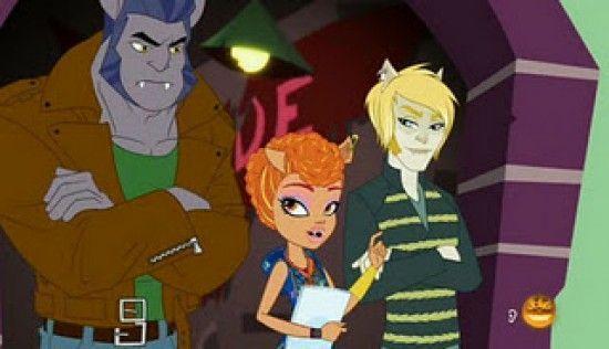"""Imagen del capítulo especial de Halloween de 2011 (""""Guerra de Colmillos""""), en el que aparecía por primera vez Howleen Wolf"""