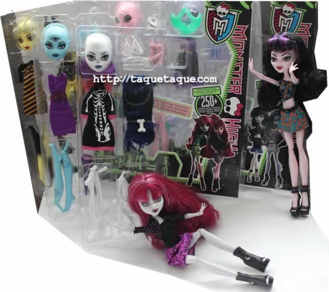 Algunas de las novedades de mi colección: los 2 packs básicos y los 3 packs de accesorios de los kits Create-A-Monster