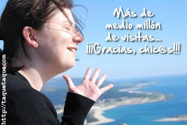 Ana B. Reboredo (Taqué-Taqué). Esta soy yo. ¡¡¡Gracias a todos y cada uno de vosotros porque este blog ya ha superado el medio millón de visitas!!!