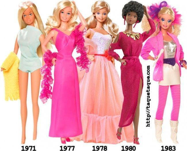 Mi Barbie Favorita de... (en la foto podéis ver las de las décadas de los '70 y los '80), una de mis colecciones de Barbie