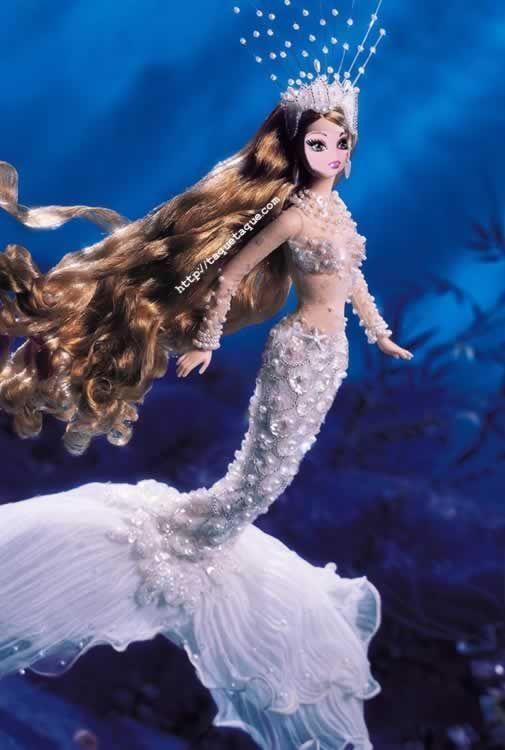 Draculaura como la Barbie Sirena de colección del año 2001