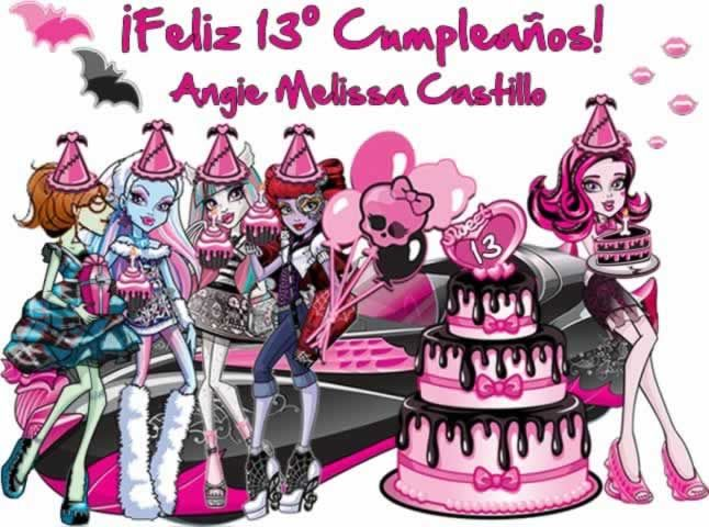 ¡Feliz 13º Cumplespantos, Angie Melissa Castillo (Colombia)!