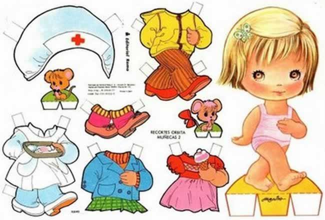 """Mariquitas"" o muñecas recortables"