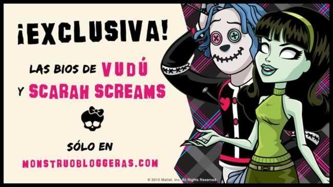 bios de Scarah Screams y Hoodude Vudú, gracias a Monstruobloggeras