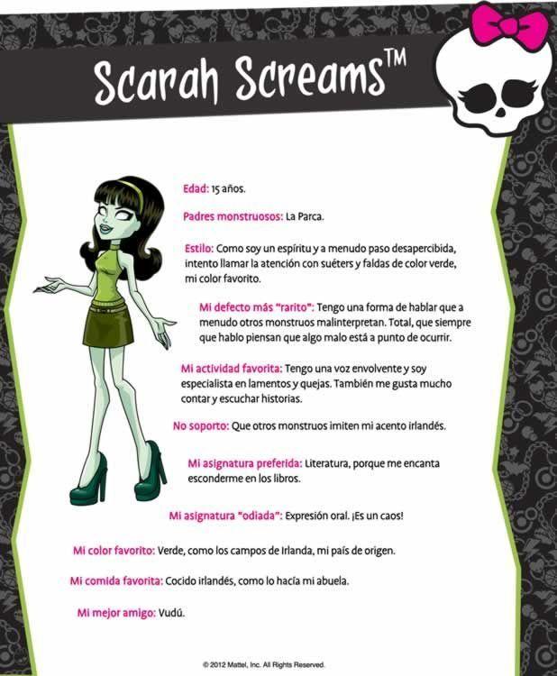 Monstruobloggeras - Biografía de Scarah Screams