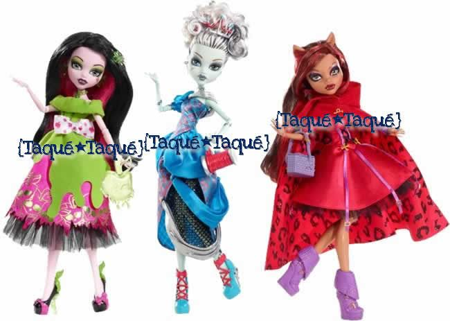 """Monster High - la colección """"Scarily Ever After"""" está formada (hasta ahora) sólo por esta Draculaura, esta Frankie y esta Clawdeen"""