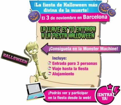 Fiesta de Halloween de Monster High - Barcelona (España), 3 de noviembre de 2012
