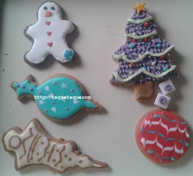 Estas son las galletas decoradas con glasa que hizo mi amiga Eva. ¿A que le quedaron genial?