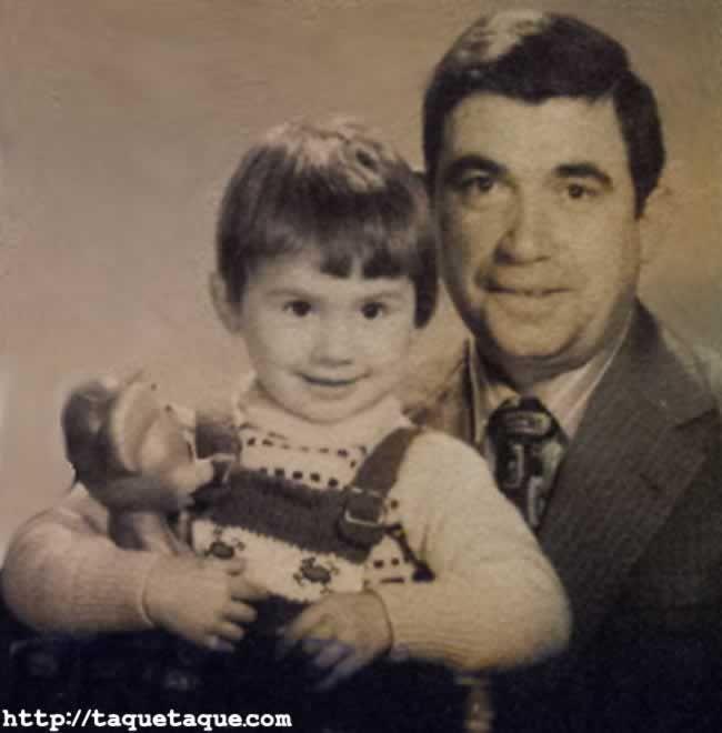 taquetaque papa y yo parte retrato familia ernesto schreck 1974