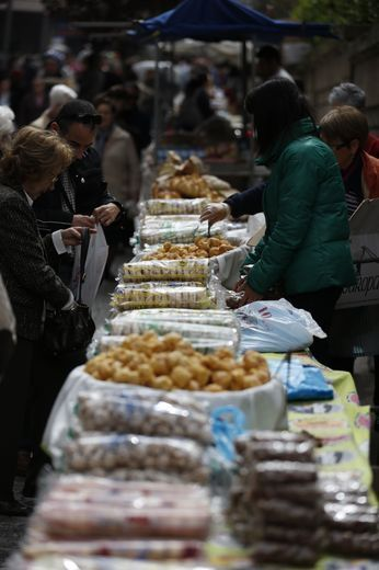 Ourense - Fiesta de San Lázaro (Puestos de rosquillas)