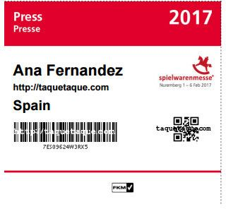mi acreditacion Spielwarenmesse 2017