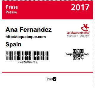 mi acreditacion Spielwarenmesse 2017