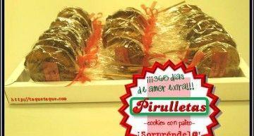 """Otra propuesta DIY para San Valentín: ¡""""pirulletas"""" de chocolate! (cookies de chocolate con palito -piruleta-)"""