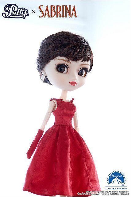 pullip sabrina vestido rojo sisas tiras guantes