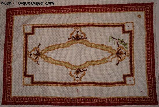 alfombra, alfombra bordada, punto de cruz, casas de muñecas, alfombras, miniaturas, patrones