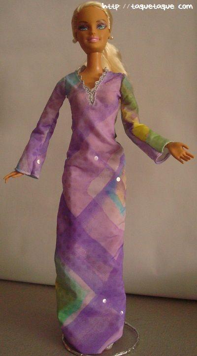 Diseños OOAK DIY by Taque-Taque para Barbie Fashionista: vestido setentero