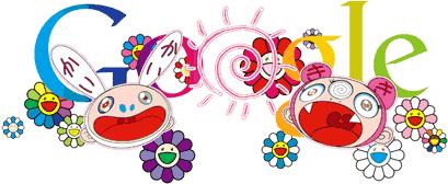 doodle, google, verano, Takashi Murakami